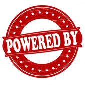 Powered by — Stock Vector