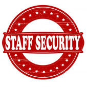 Staff security — Stock Vector