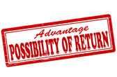 Possibility of return — Stock Vector