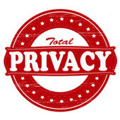 Total privacy — Stock Vector