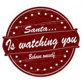 Santa is watching you — Stock Vector