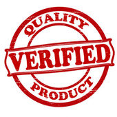 Quality verified and product — Stock Vector