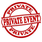 Private event — Stock Vector