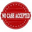 Постер, плакат: No cash accepted