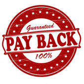 Pay back — Stock Vector