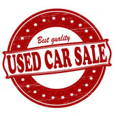 Used car sale — Stock Vector