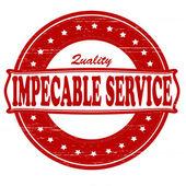 Impeccable service — Stock Vector