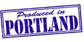 Produced in Portland — Stock Vector