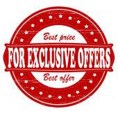 Para ofertas exclusivas — Vetor de Stock