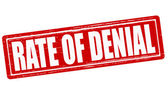 Rate of denial — Stock Vector