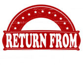 Return from — Wektor stockowy