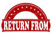 Return from — Stock Vector