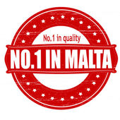 No one in Malta — Stock Vector