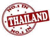 No one in Thailand — Stock Vector