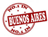 No one in Buenos Aires — Stock Vector