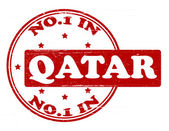 No one in Quatar — Stock Vector