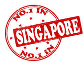 No one in Singapore — Stock Vector