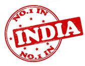 No one in India — Stock Vector