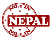 No one in Nepal — Stock Vector