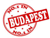 No one in Budapest — Stock Vector