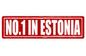 No one in Estonia — Stock Vector