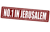 No one in Jerusalem — Stock Vector