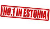 No one in Estonia — Stock Vector