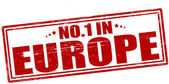 No one in Europe — Stock Vector