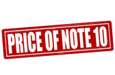 Price of note ten — Stock Vector