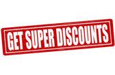 Get super discounts — Stock Vector