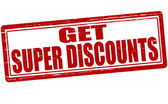 Get super discounts — Stockvector
