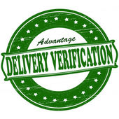 Delivery verification — Stock Vector