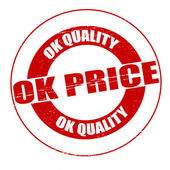 Ok quality ok price — Stock Vector