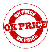 Ok price — Stock Vector
