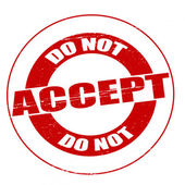 Do not accept — Stock Vector