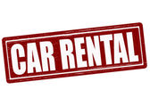 Car rental — Vettoriale Stock