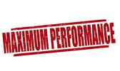 Maximum performance — Stockvektor
