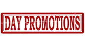 Day promotions — Stock Vector