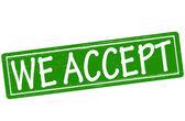 We accept — Vector de stock