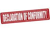 Declaration of conformity — Stock Vector