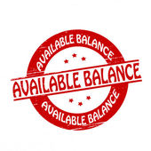 Available balance — Stock Vector