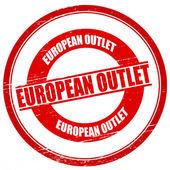 European outlet — Vector de stock