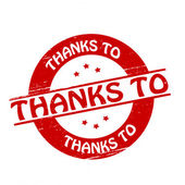 Thanks to — Stock Vector