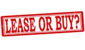 Contrato de arrendamiento o compra — Vector de stock