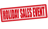 Holiday sales event — Stock Vector