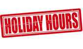 Holiday hours — Vettoriale Stock