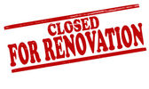 Closed for renovation — Stock Vector
