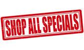 Shop all specials — Stock Vector