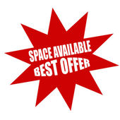 Space available — Stock Vector