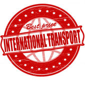 Internationale transporte — Stockvektor